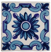 Декор декор dec.flor azul antic blanco 13*13 каталог